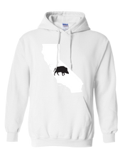 Load image into Gallery viewer, Pullover Hooded Sweatshirt California White Wild Hog Vibrant Design High Quality Tight Knit Ring Spun Low Maintenance Cotton Printed With The Newest Available Color Transfer Technology
