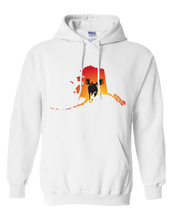 Load image into Gallery viewer, Pullover Hooded Sweatshirt Alaska White Moose Vibrant Design High Quality Tight Knit Ring Spun Low Maintenance Cotton Printed With The Newest Available Color Transfer Technology