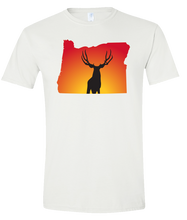 Load image into Gallery viewer, Short Sleeve T-Shirt Oregon White Mule Deer Vibrant Design High Quality Tight Knit Ring Spun Low Maintenance Cotton Printed With The Newest Available Color Transfer Technology