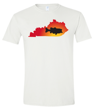 Load image into Gallery viewer, Short Sleeve T-Shirt Kentucky White Large Mouth Bass Vibrant Design High Quality Tight Knit Ring Spun Low Maintenance Cotton Printed With The Newest Available Color Transfer Technology