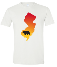 Load image into Gallery viewer, Short Sleeve T-Shirt New Jersey White Black Bear Vibrant Design High Quality Tight Knit Ring Spun Low Maintenance Cotton Printed With The Newest Available Color Transfer Technology