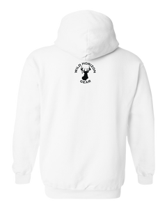 Pullover Hooded Sweatshirt Michigan White Black Bear Vibrant Design High Quality Tight Knit Ring Spun Low Maintenance Cotton Printed With The Newest Available Color Transfer Technology