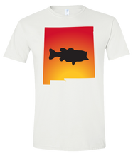 Load image into Gallery viewer, Short Sleeve T-Shirt New Mexico White Large Mouth Bass Vibrant Design High Quality Tight Knit Ring Spun Low Maintenance Cotton Printed With The Newest Available Color Transfer Technology