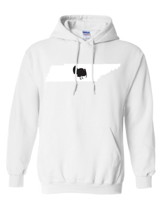 Pullover Hooded Sweatshirt Tennessee White Turkey Vibrant Design High Quality Tight Knit Ring Spun Low Maintenance Cotton Printed With The Newest Available Color Transfer Technology