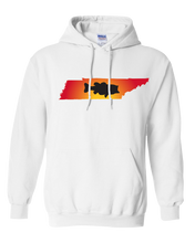 Load image into Gallery viewer, Pullover Hooded Sweatshirt Tennessee White Large Mouth Bass Vibrant Design High Quality Tight Knit Ring Spun Low Maintenance Cotton Printed With The Newest Available Color Transfer Technology