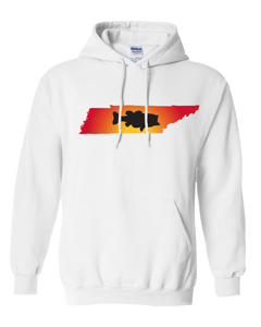 Pullover Hooded Sweatshirt Tennessee White Large Mouth Bass Vibrant Design High Quality Tight Knit Ring Spun Low Maintenance Cotton Printed With The Newest Available Color Transfer Technology