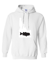 Load image into Gallery viewer, Pullover Hooded Sweatshirt Idaho White Large Mouth Bass Vibrant Design High Quality Tight Knit Ring Spun Low Maintenance Cotton Printed With The Newest Available Color Transfer Technology