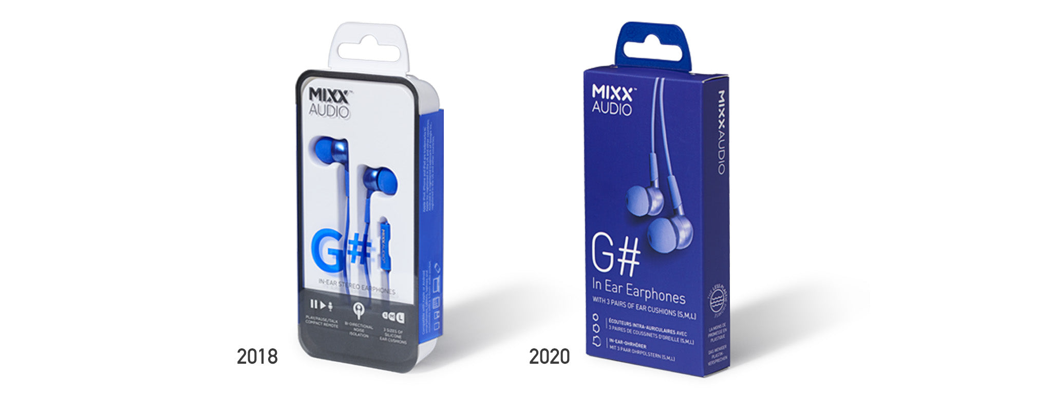 MIXX G# packaging with less plastic