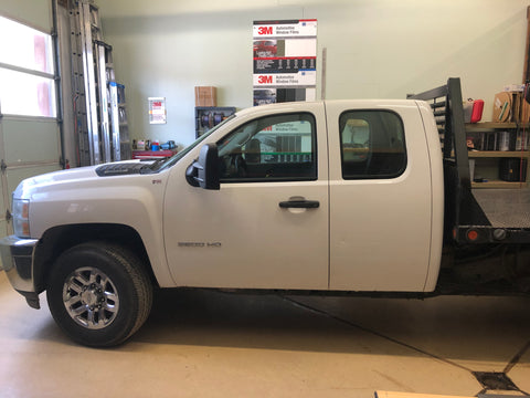 2011 Chevy Silverado windows in factory condition.