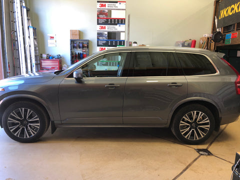 2020 Volvo XC90 before the front windows tinted.