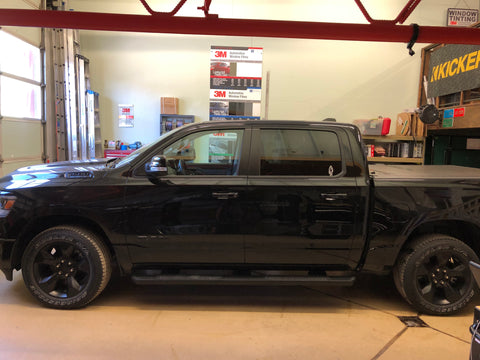 2019 RAM 1500 in factory condition before window tinting