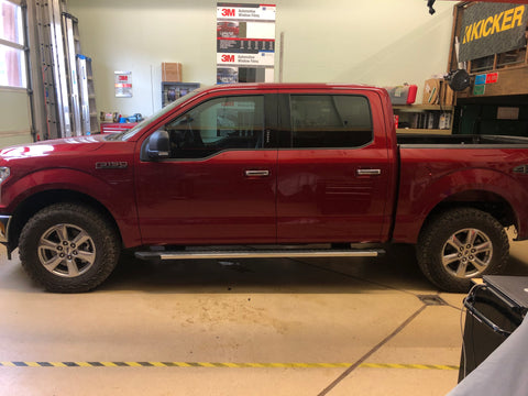 2019 F-150 Front Windows Tinted 32% VLT