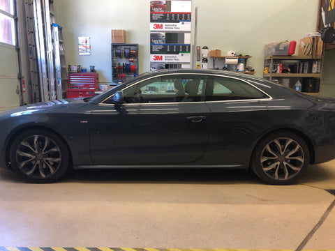 2009 Audi A5 windows in factory condition