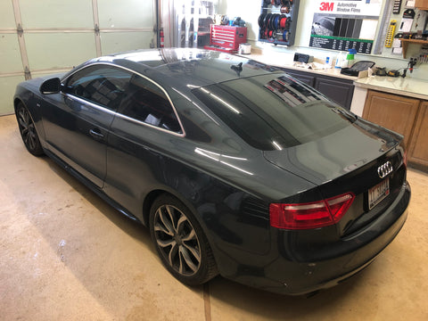2009 Audi A5 back glass window tinting