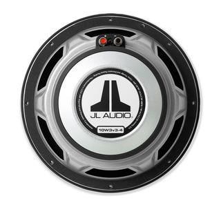JL Audio 10W3v3 : 10-Inch 500-Watt Subwoofer Driver, 2-Ohm or 4-Ohm SVC, rear view.