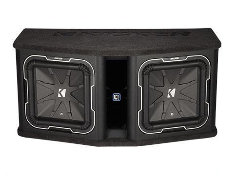 "1800W 12"" Dual Subwoofer Enclosure, 2Ω Configuration : Kicker 41DL7122"
