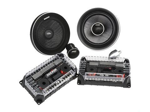 "90W 6.5"" Component Speakers, Coaxial Convertible : Kicker 41QSS654"