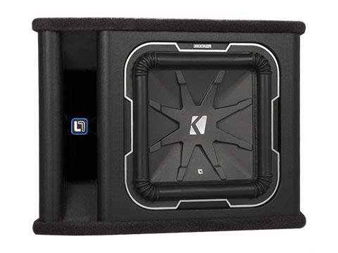 "900W 12"" Square Subwoofer Enclosure, 2Ω Configuration : Kicker 41VL7122"