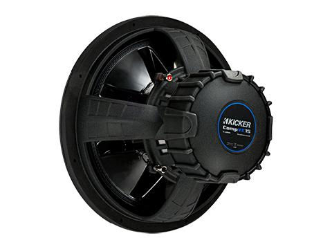 Kicker 44CVX10 : 10-Inch 600-Watt Subwoofer Driver, 2-Ohm or 4-Ohm DVC, rear view.