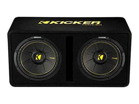 "600W Dual 12"" Subwoofer Enclosure, 2Ω Configuration : Kicker 44DCWC122"