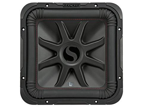 "500W 10"" Square Subwoofer Driver, 2Ω or 4Ω Dual Voice Coil : Kicker 45L7R10"