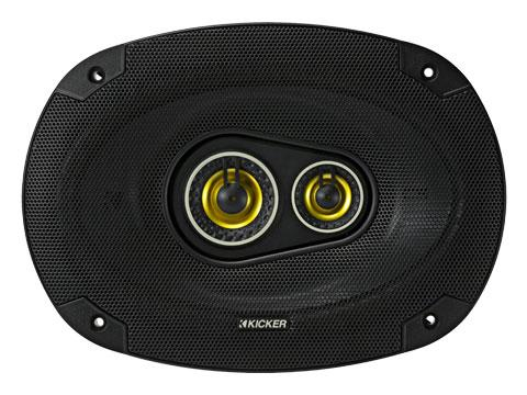 "6x9"" 3-Way Coaxial Speakers, 150W : Kicker 46CSC6934"