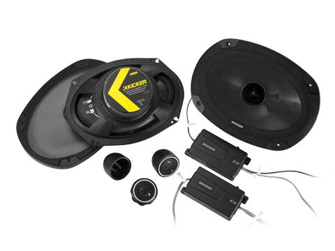 "Kicker 46CSS694 : 150-Watt Component Speakers Six-x-Nine"" Drivers"