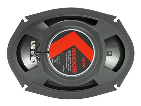 Kicker 47KSC6904 : Six-by-Nine-Inch Coaxial Speaker Drivers, 150-Watt RMS, back side.