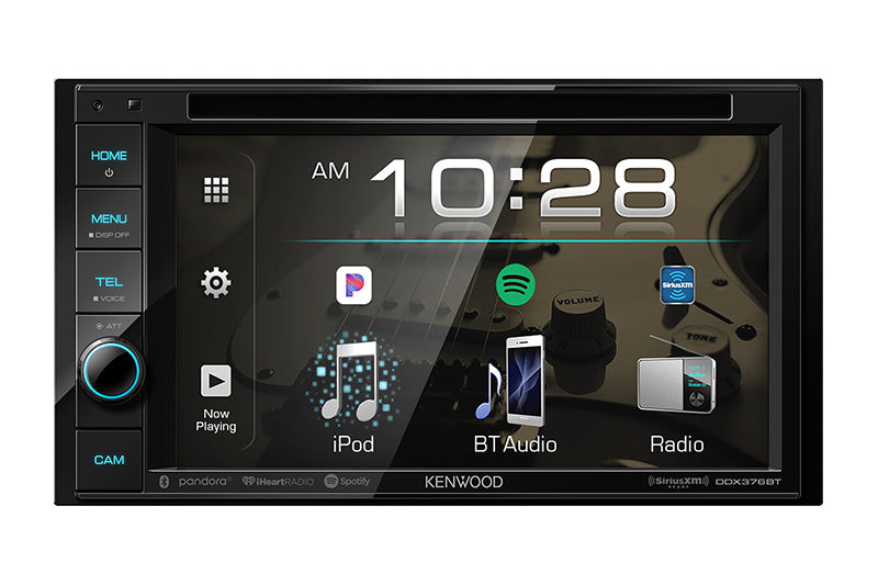 "Kenwood DDX376BT - DDIN Size 6.2"" CD/DVD BT Head Unit"