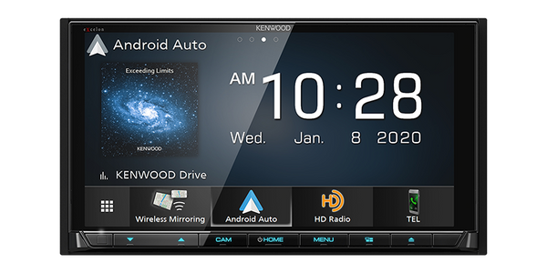 "DDX9907XR : Kenwood Excelon 6.8"" DDIN Size Head Unit - CD/DVD BT WiFi HD-Radio, with Android Auto"