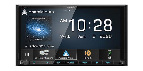 "DMX907S : Kenwood Excelon 6.95"" DDIN Size Head Unit - Mechless BT WiFi HD-Radio"