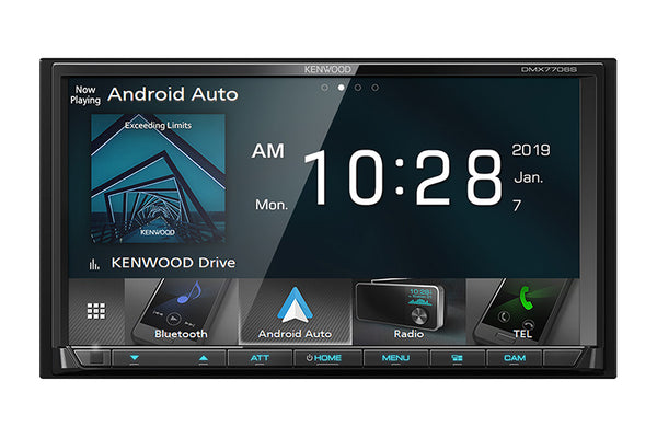 "Kenwood DMX7706S - DDIN Size 6.95"" Mechless BT Head Unit"