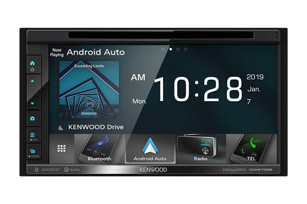 "Kenwood DDX6706S - DDIN Size 6.8"" CD/DVD BT Head Unit"