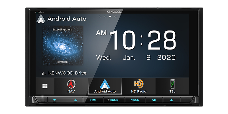 "Kenwood Excelon DNX997XR - 6.8"" HD DDIN CD/DVD BT WiFi Navigation Receiver with HD Radio"