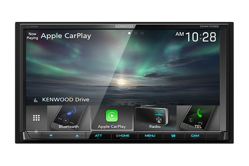 "Kenwood Excelon DMX706S - 6.95"" DDIN Mechless BT Receiver, with customizable screen."