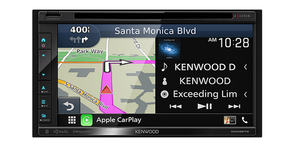 "DNX697S : Kenwood Excelon 6.8"" DDIN Size Head Unit - CD/DVD BT Navigation HD-Radio, Navigation screen"