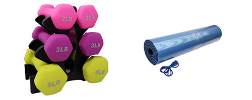 Dumbbell & Yoga Mat