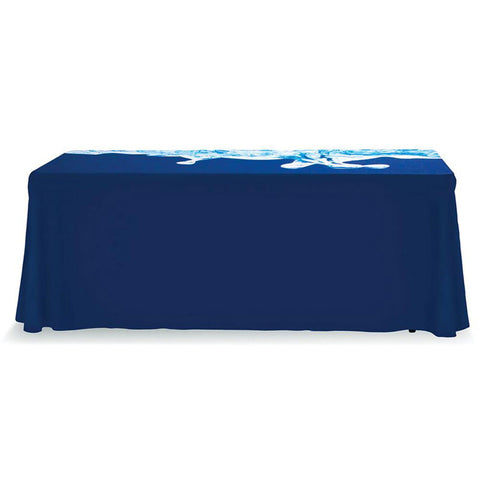 4 Ft. Regular Table Throw With Full Color with Dye-Sub Custom Print - Qlevo - Clever Living