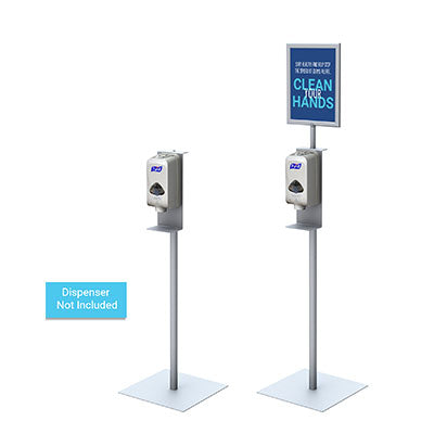 Automatic Hand Sanitizer Dispenser Stand w/ Optional Frame - Qlevo - Clever Living