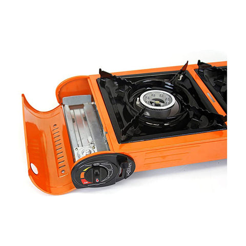 Evelyne GMT-10273 Portable Butane Gas Double Stove for Outdoor Camping - Qlevo - Clever Living