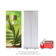 "Retractable Banner Stand 33.5""W - Qlevo - Clever Living"