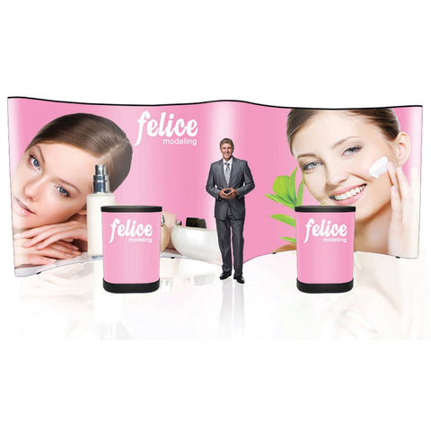 Pop Up 20 ft. Display Graphic Package (PVC Panels) - Qlevo - Clever Living