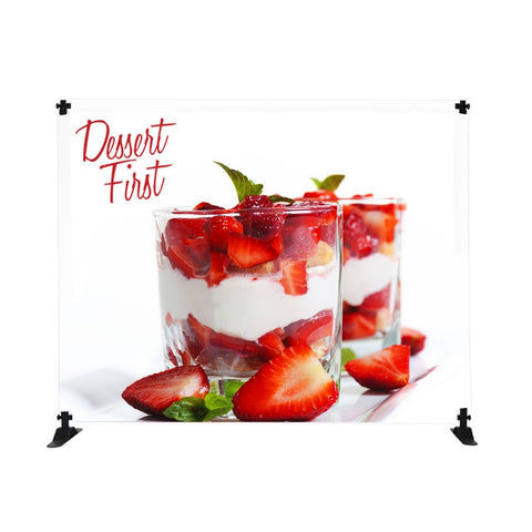 4 ft. Mini-Slider Banner Stand - 4 ft. Height Fabric Graphic Display
