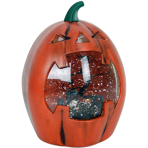 Halloween Decoration Jack-O-Lantern Lighted Pumpkin Halloween Snow Globe