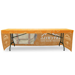 Fitted Table Throw Full Color 8 ft. with Custom Dye-Sub Print - Qlevo - Clever Living