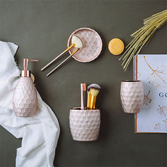 Mooi Space Fleur Pink Collection Bathroom Accessories