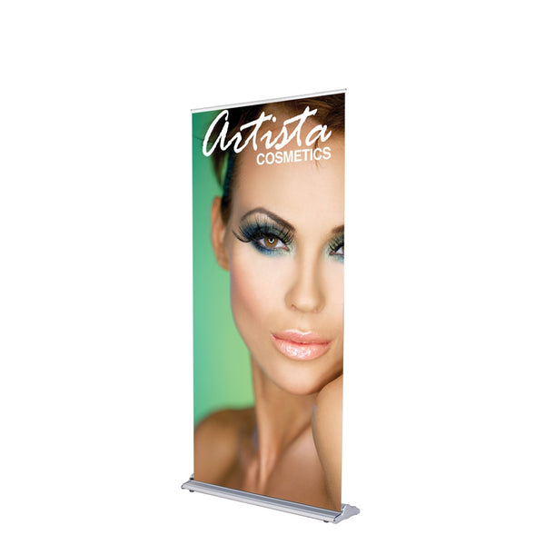 "Silverstep 36""W Retractable Banner Stand - Silver"