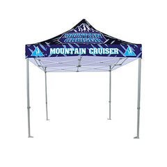 10 Ft. Casita Canopy Tent - Heavy Duty - Full-Color UV Print Graphic Package - Qlevo - Clever Living
