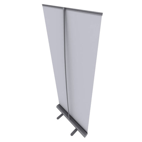 "ONE CHOICE - 33.5 In. Good Roll Up Silver 80""H Super Flat Graphic Package - Qlevo - Clever Living"