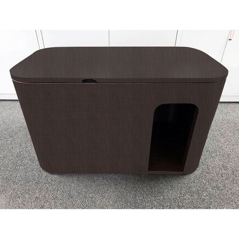 Cat Litter Box Cabinet - Baby-proof Rounded Corner | Custom Finish